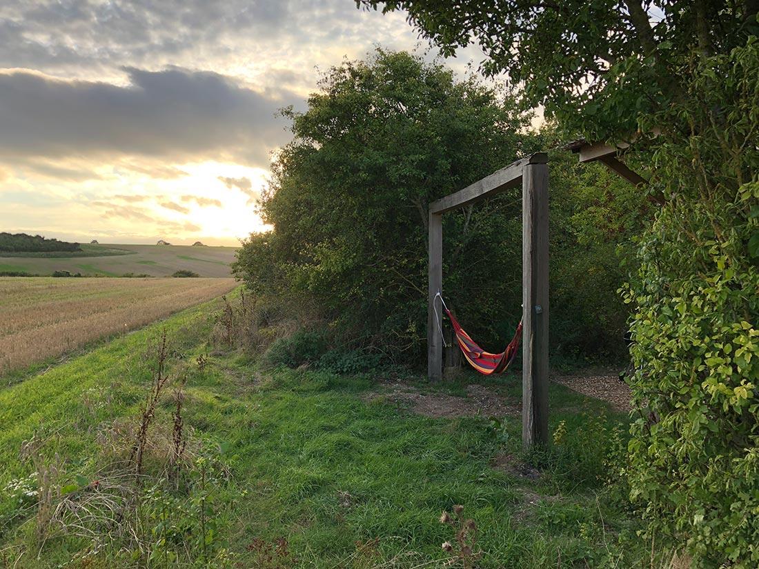 hammock outside lodge