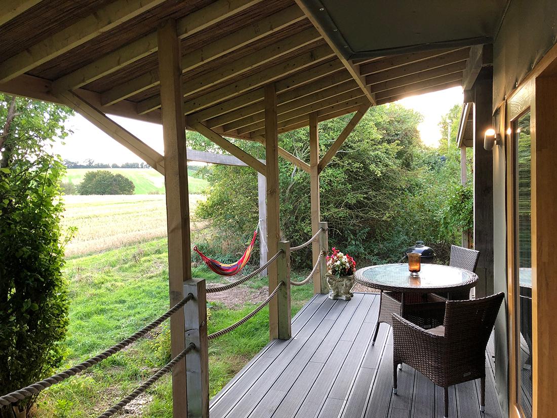 lodge veranda and hammock