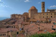 Seaside and Volterra Motorcycle Tour - Volterra view