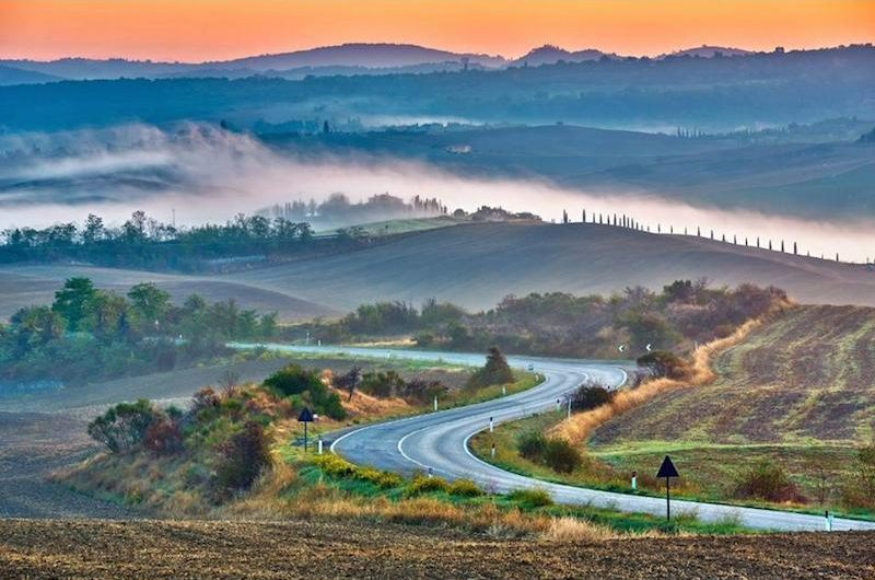 tuscany countryside road