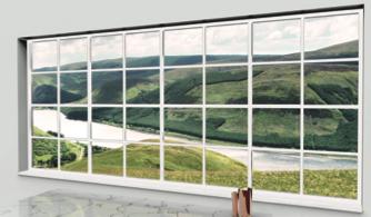 Backlit faux window