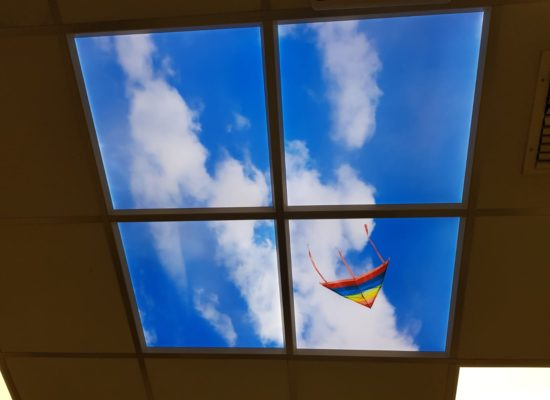 Cloud scene with kite