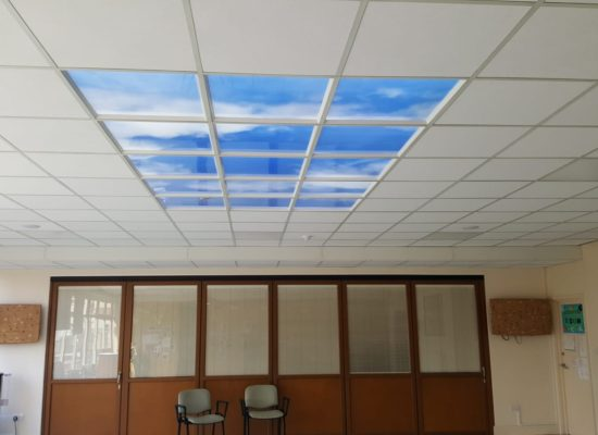 Several sky ceiling panels
