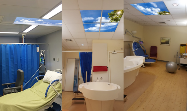 Artificial skylights in maternity wards