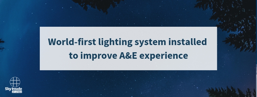 Night-day-night lighting system installed by Sky Inside UK for A&E