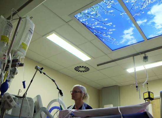 Skylight in intensive therapy care unit