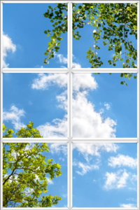 Panels put together in a grid as an artificial skylight