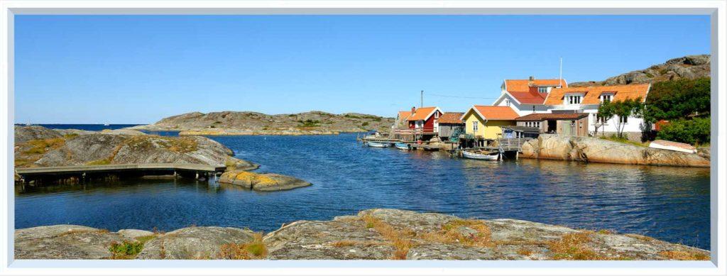 1 panel landscape window with fishing village