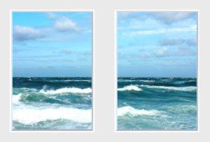 2 panel landscape window with crashing waves