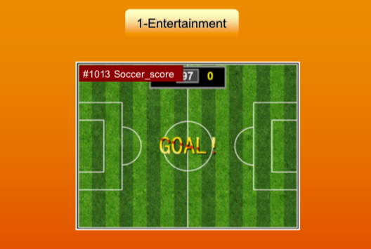 'Entertainment' options: #1013 Soccer score