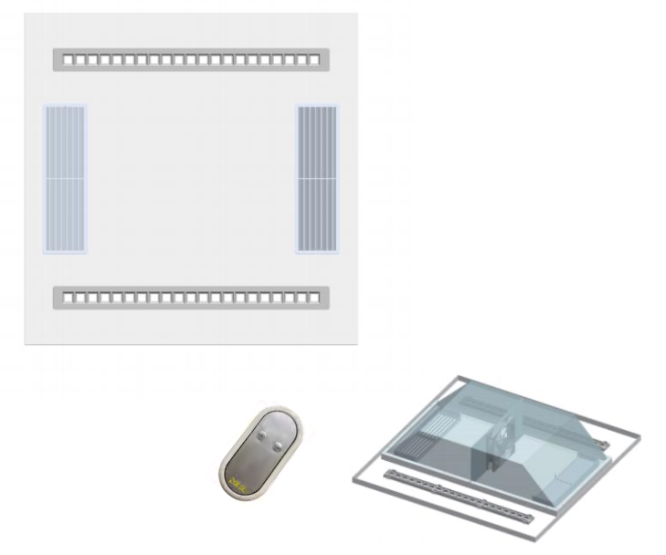 Two versions of the lighting system that cleans air, with remote control