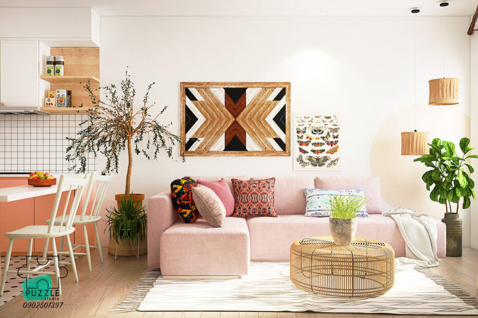 Bohemian style interior in your home