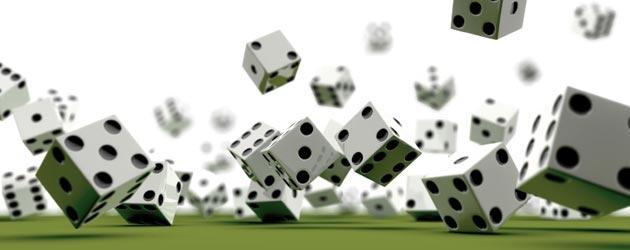 dice falling