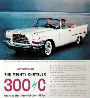 Even as far back as 1957, Chrysler was still using technical jargon. In this ad, it mentions horsepower, which back then, and still to this day, most people would not really understand what that means. We know that it sounds impressive, but it does not form a proper picture in our mind, and we cannot compare that with what we drive, because people do not know the horsepower of their own vehicle.