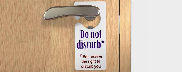 Do not disturb sign Jonar Nader