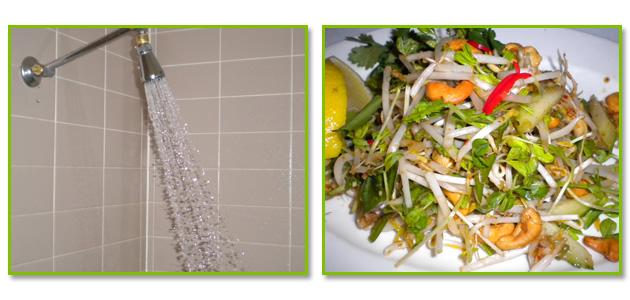 Hyatt Regency Coolum strong shower excellent salad- Jonar Nader
