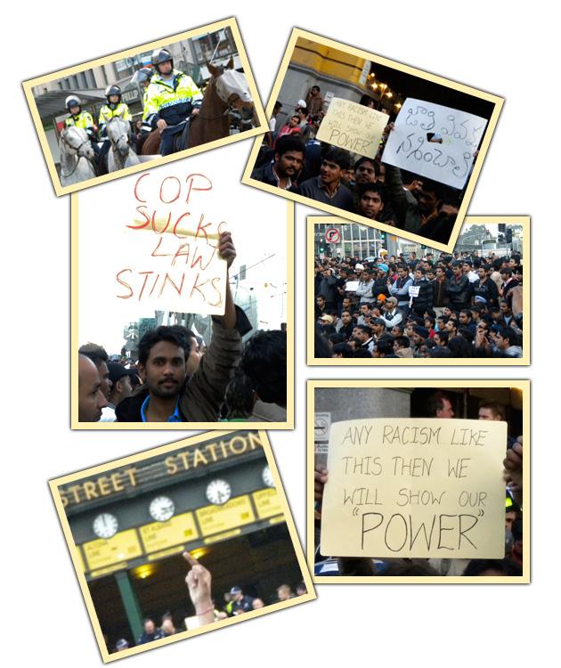 Indian protests in Melbourne collage- Jonar Nader