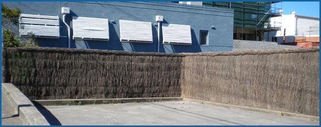 Parking danger grass fence