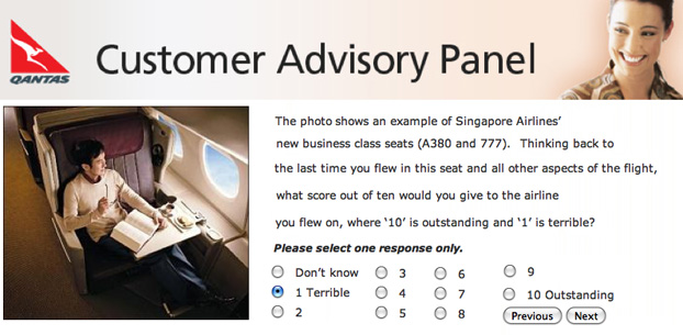As a Qantas frequent flyer, I am on the Qantas Advisory Panel. Qantas had sent out a questionnaire about the various designs of Business Class seats of various airlines. This is what I rated the A380 Business Class seat: Terrible!