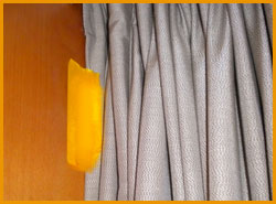 Rendezvous Hotel Auckland tape on curtains- Jonar Nader