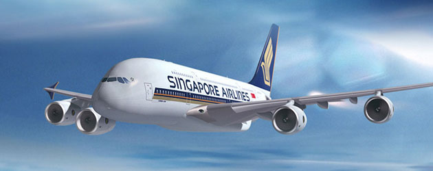 Singapore Airlines A380 craft