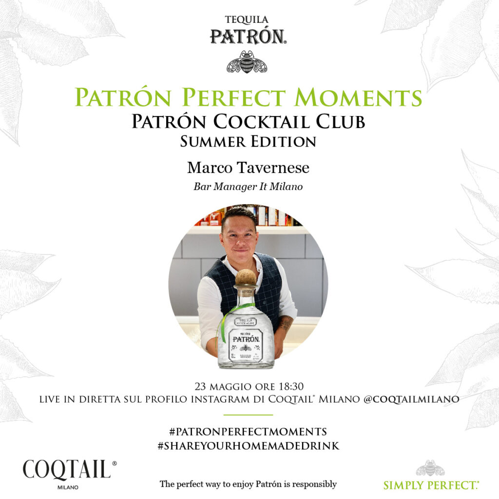 Patron cocktail club Coqtail Milano Marco Tavernese