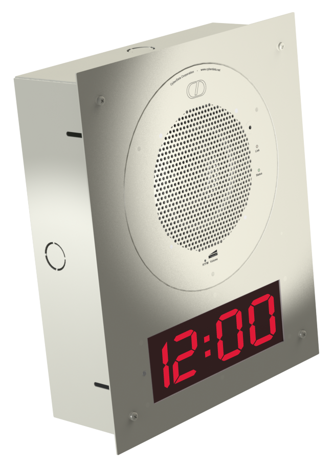 IP Ethernet Clock Kit, Integrate with the SIP Speaker, Flush Mount