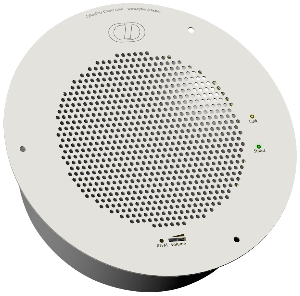 SIP enabled IP Ceiling Speaker, VoIP Paging Endpoint, On-Site & Hosted IP-PBX