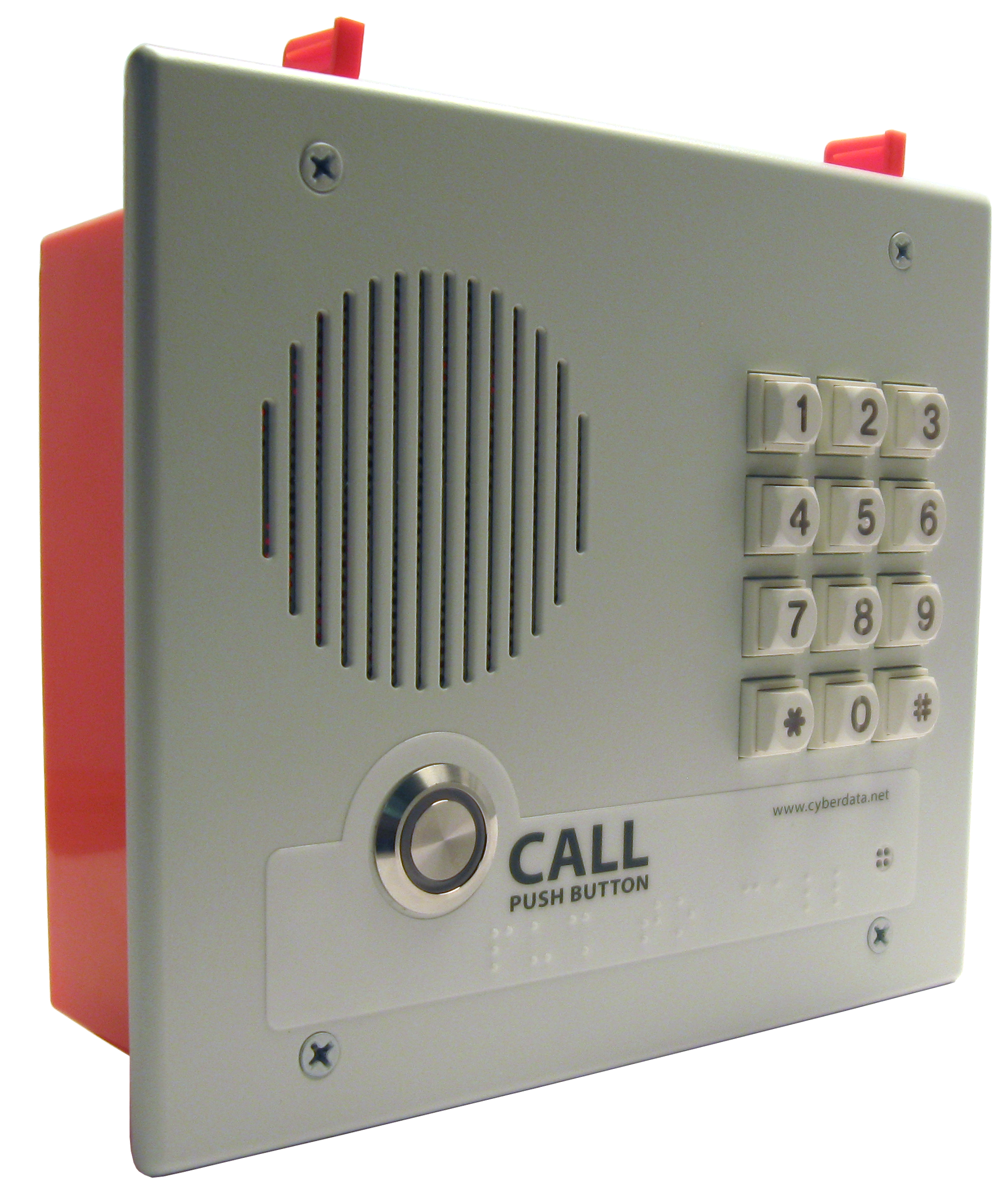 CyberData – Indoor VoIP Secure Entry Phone, V3, SIP-enabled With Keypad – Flush Mount
