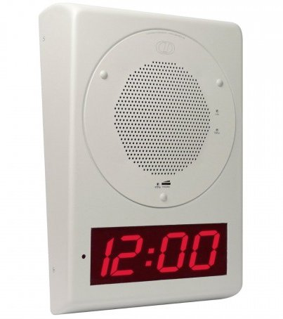 IP POE Clock, battery backed up real-time IP clock, Wall Mount
