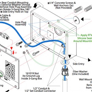 SIP Outdoor VoIP Intercom – Fixing to a wall