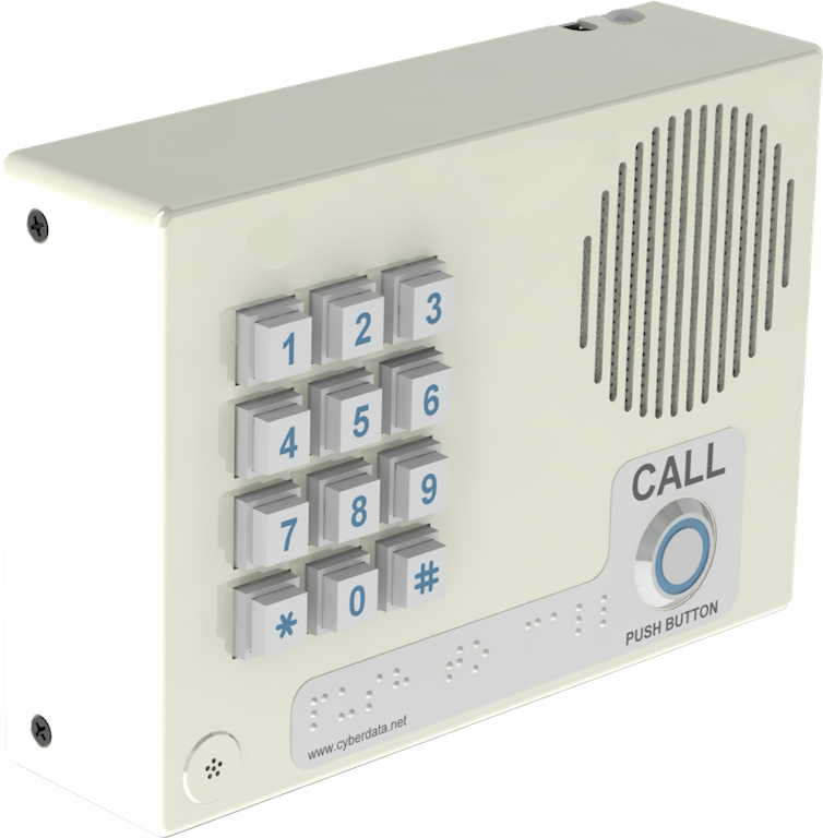 CyberData – Indoor, VoIP Secure Entry Phone, V3, SIP-enabled with keypad