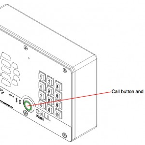 Call indication light and backlit keypad