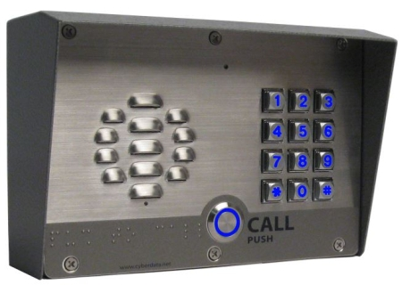 Outdoor, S/Steel, V3 VoIP Door & Barrier SIP Phone – Keypad Version, PoE, LAN + vLAN