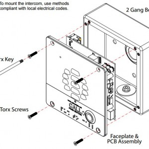 Torx screws and driver kit included