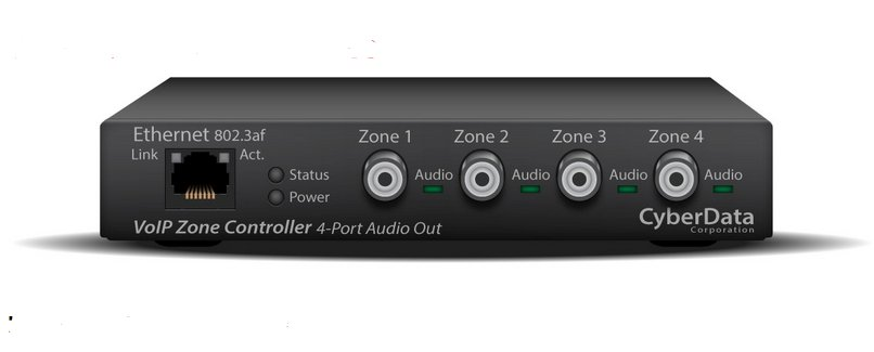 SIP-enabled IP Paging V3 Zone Controller with 4-Port Audio Out