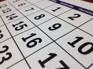 A calendar prompting readers to consider the date they load FX rates into.