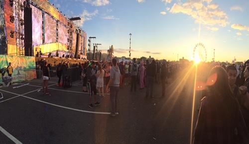 EDC festival at sunset