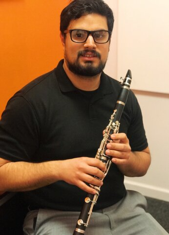 Syed Hassan, Brass and woodwinds teacher at Center Stage Music Center