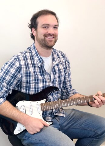 Eric Annibale, guitar teacher at Center Stage Music Center