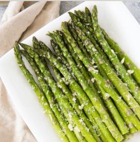 Roasted Asparagus with lemon & garlic, easter menu blog