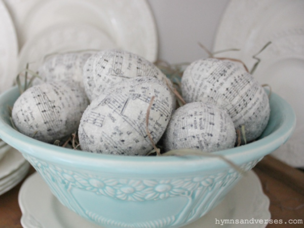 Sheet Music Easter Eggs