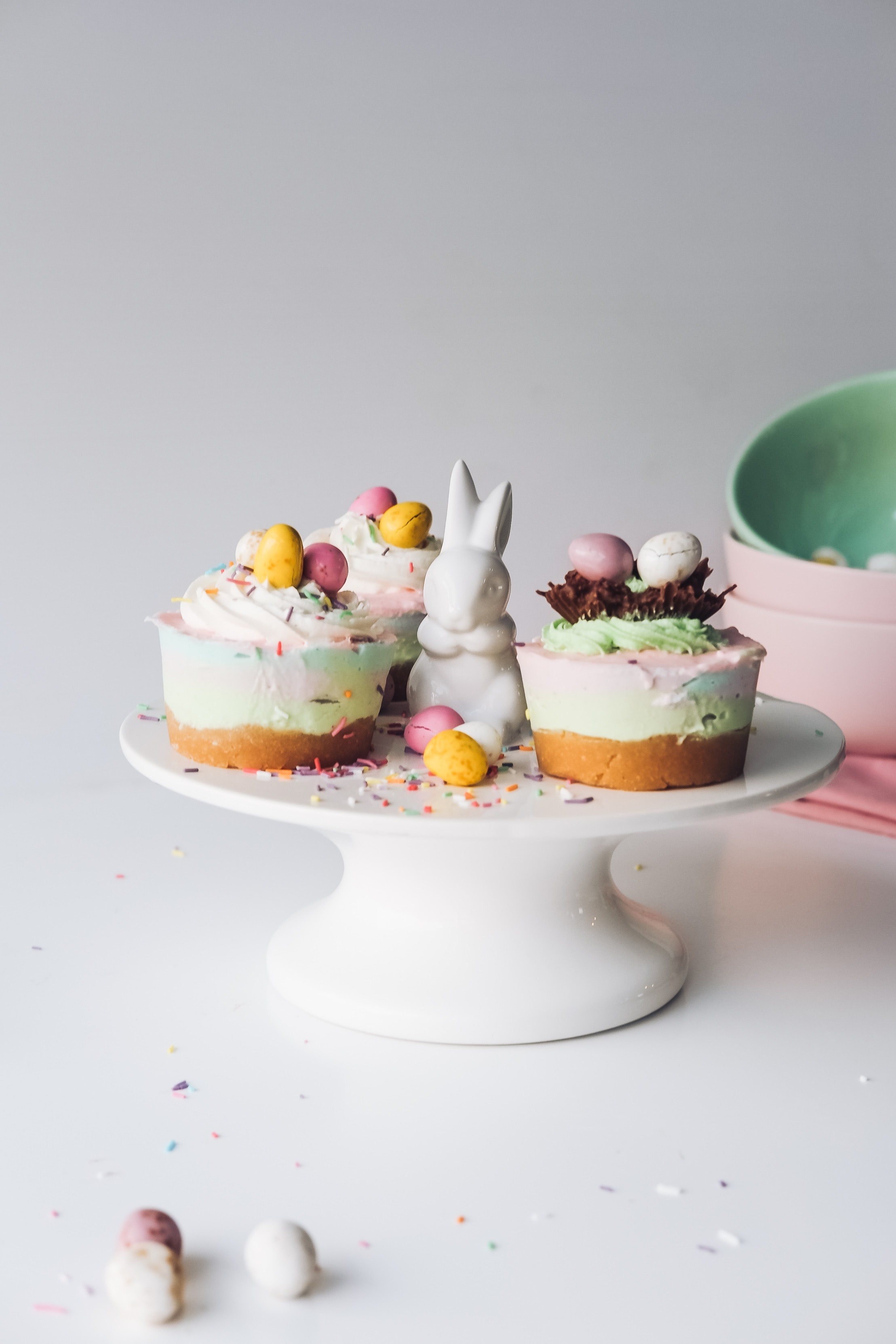 Birds nest cupcakes for Easter