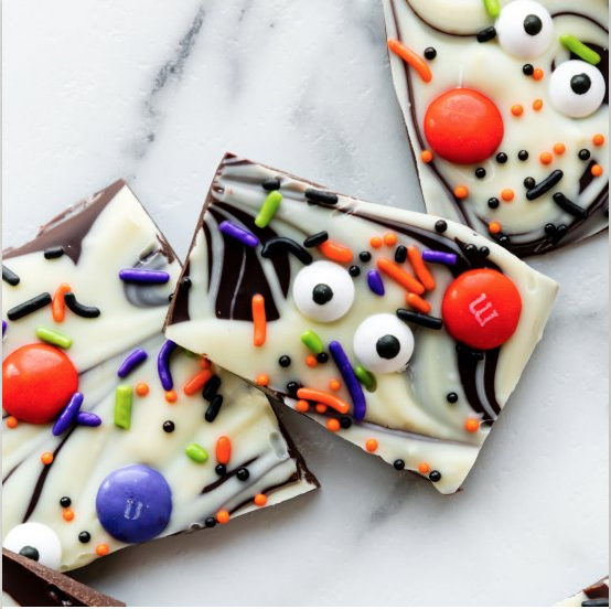 Boo Bark, Halloween Recipe Blog