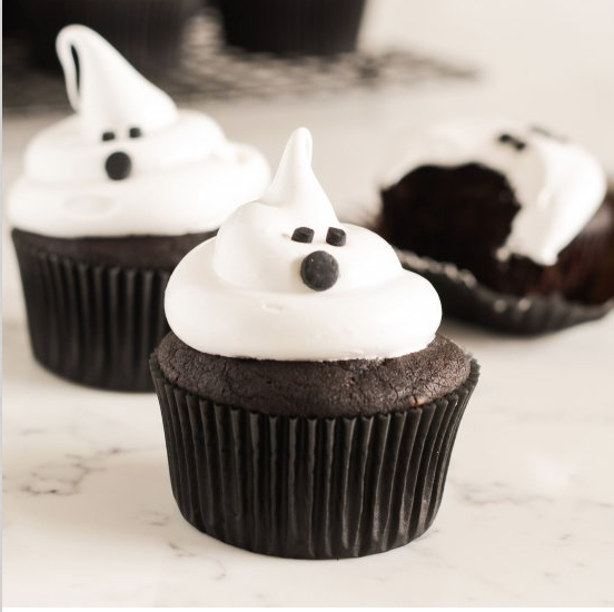 Devils Food Ghost Cupcakes, Halloween Recipe Blog