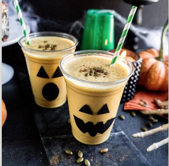 pumpkin smoothie, halloween recipe blog