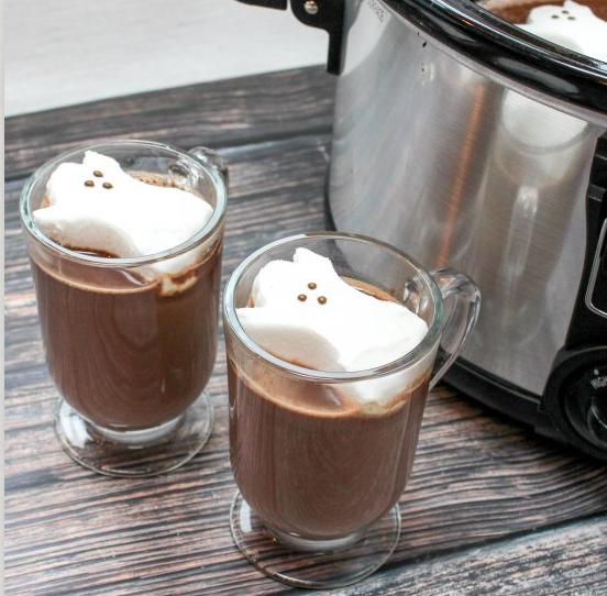 Spooky Slow Cooker Hot Chocolate, Halloween Recipe Blog