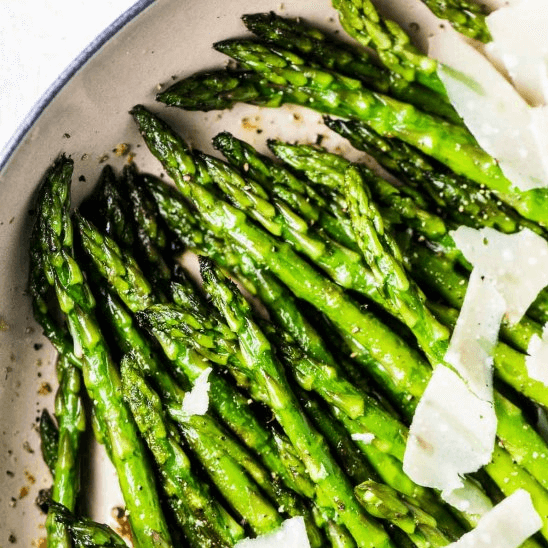 Sauteed Asparagus with garlic and parmesean