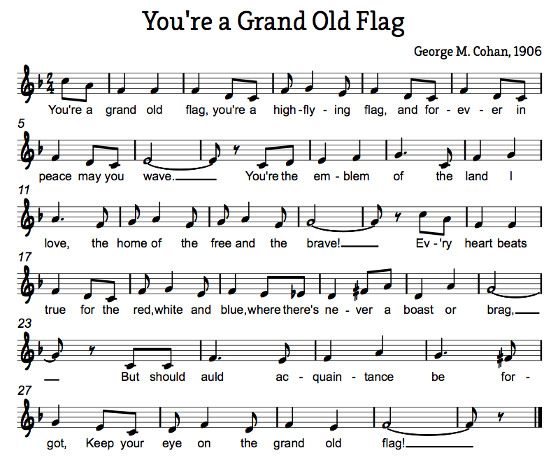 You're a Grand Old Flag Sheet Music