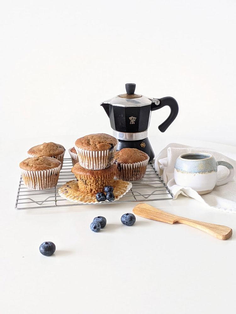Vegan Blueberry and lemon muffins